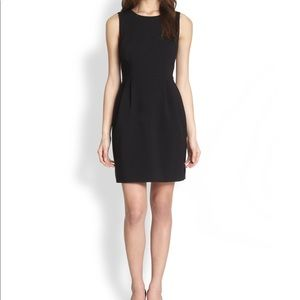 Kate Spade Black Tiff Pleated Sheath Dress